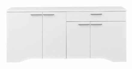 Palace Contemporary 4 Door 1 Drawer  Sideboard in White, Sawn Oak or Plum